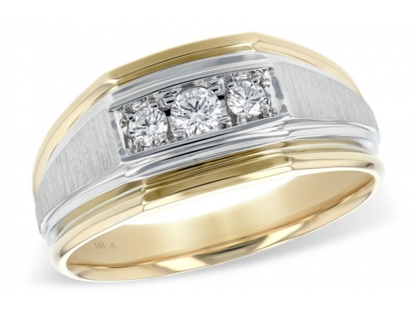 14K 2TN Diamond Wedding Band 0.25ctTW H/VS2-SI1 by Allison Kaufman