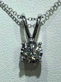14KW Diamond Necklace by Gems One