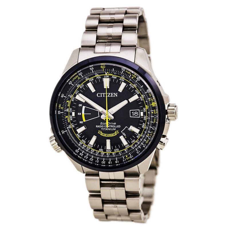 "Gents Citizen ""Blue Angels"" Titanium bracelet by Citizen"