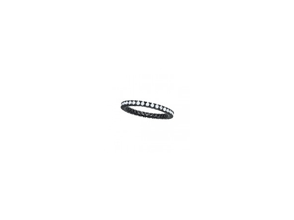 Sterling Silver Black Rhodium Eternity Band by Overnight