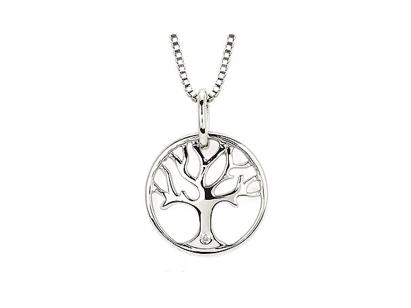 Sterling Silver Tree Of Life Necklace by Ostbye