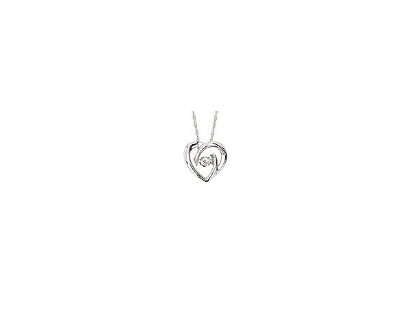 Sterling Silver .05ct Dancing Diamond Necklace by Ostbye