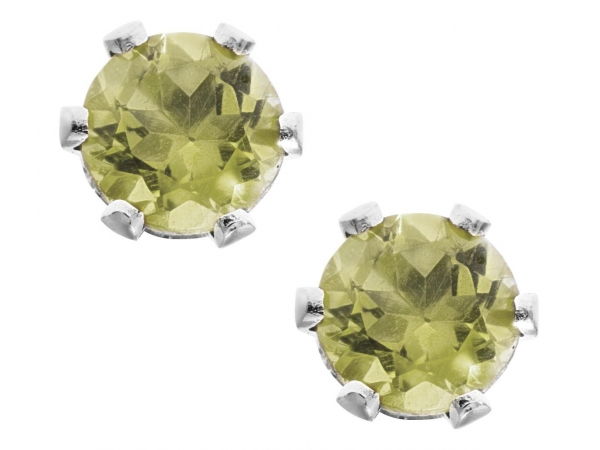 14KW Peridot Stud Earrings by Kiddie Kraft