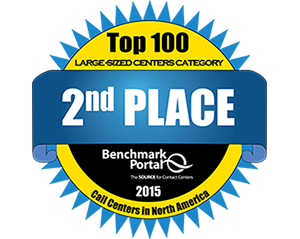 2015 Customer Service Center Certified Center of Excellence - Awarded by Benchmark Portal, The Source for Contact Centers